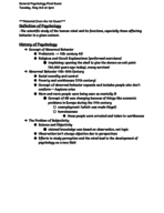 PSY 1557 - Study Guide