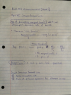 ECON 003 - Class Notes - Week 5