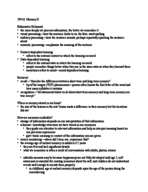 PSY 1 - Class Notes - Week 7