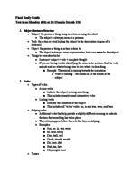 JOUR 101 - Study Guide