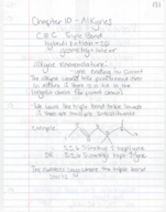 CHEM 3053 - Class Notes - Week 10
