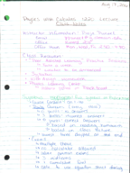 PHYS 1220 - Class Notes - Week 1