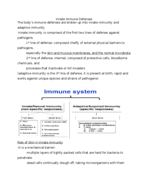 What are the lines of defense of the immune system?