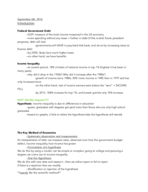 ECON 1 - Class Notes - Week 1