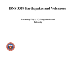 How is the location and magnitude of an earthquake determined?