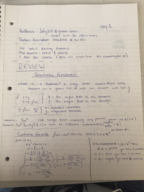 MA 121 - Class Notes - Week 1