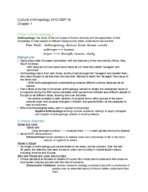 ANT 2410 - Class Notes - Week 1