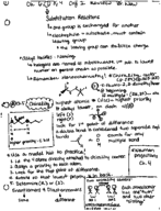 UCO - CHEM 3323 - Class Notes - Week 3