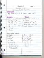 What are the methods in solving radical equations?