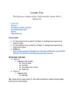UTA - BIOL 2458 - Class Notes - Week 2