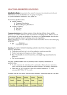 What are the components of descriptive statistics?