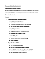 UIUC - PSYC 100 - Study Guide - Midterm