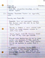 ECON 104 - Class Notes - Week 2