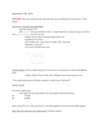 NYU - ECON 101 - Class Notes - Week 2