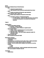 PSY 320 - Class Notes - Week 5