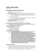 POLS 1001 - Study Guide - Midterm