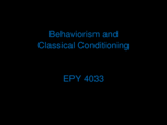PSY 4033 - Study Guide