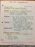 FAS 232 - Class Notes - Week 2