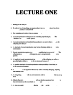 Towson - MBBB 120 - Study Guide - Midterm