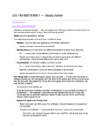 COGS 140 - Study Guide