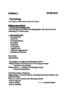 pers 201 textbook notes