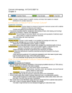 ANT 2410 - Class Notes - Week 7
