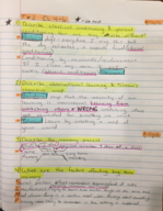 College of Lake County - SBS 121 - Class Notes - Week 6
