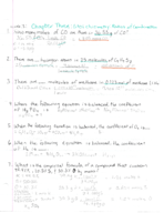 CHEM 1311 - Class Notes - Week 3