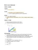 MTH 132 - Study Guide