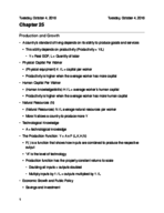 ECON 1 - Class Notes - Week 9