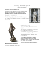 Who revived many art forms from classical works such as contrapposto, life-size freestanding nudes, equestrian portraits, and large-scale bronze casting?