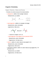What explains the formation of an alkane compound from alkene reactions?