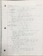 MATH 1150 - Class Notes - Week 9