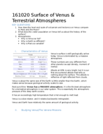 which terrestrial planet has the thickest atmosphere