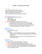 ECON 2304 - Class Notes - Week 1