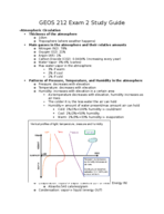 GEOS 212 - Study Guide
