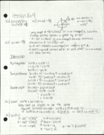 MATH 145 - Class Notes - Week 9
