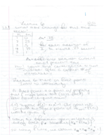 BME 8 - Class Notes - Week 3