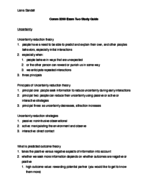 COMM 3200 - Study Guide
