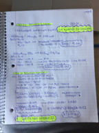 CHM 101 - Class Notes - Week 8