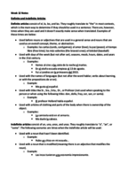 SPANISH 2020 - Class Notes - Week 12