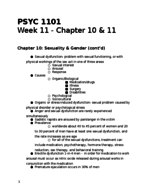 PSYC 1101 - Class Notes - Week 11