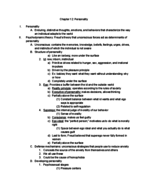 PSY 1113 - Class Notes - Week 13