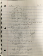 MATH 1150 - Class Notes - Week 12