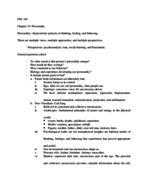 PSY 101 - Class Notes - Week 16