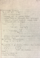 CHEM 103 - Class Notes - Week 9