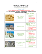ARCH 211 - Study Guide