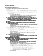 PSY 1101 - Class Notes - Week 15