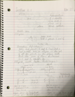 MATH 1150 - Class Notes - Week 14