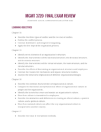 BCIS 3720 - Study Guide